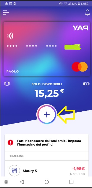 YAP L'App gratuita che ti restituisce denaro! CASHBACK RESTITUZIONE DENARO SU USO CONTO! - Pagina 2 Ricarica-skin-1