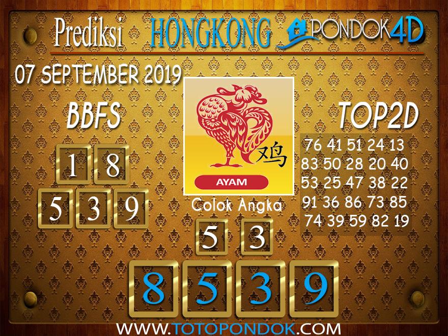 Prediksi Togel HONGKONG PONDOK4D 07 SEPTEMBER 2019