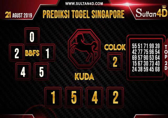 PREDIKSI TOGEL SINGAPORE SULTAN4D 21 AGUSTUS 2019
