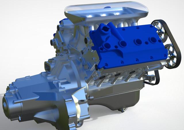 ВАЗ-V8. Восьмицилиндровый из двух вазовских. Vaz-2
