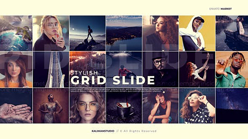 Stylish Grid Slide 25099632 - Project for After Effects (Videohive)