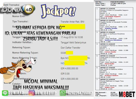 MODAL MINIMAL HASILNYA MAKSIMAL!!! JACKPOT PARLAY!!!