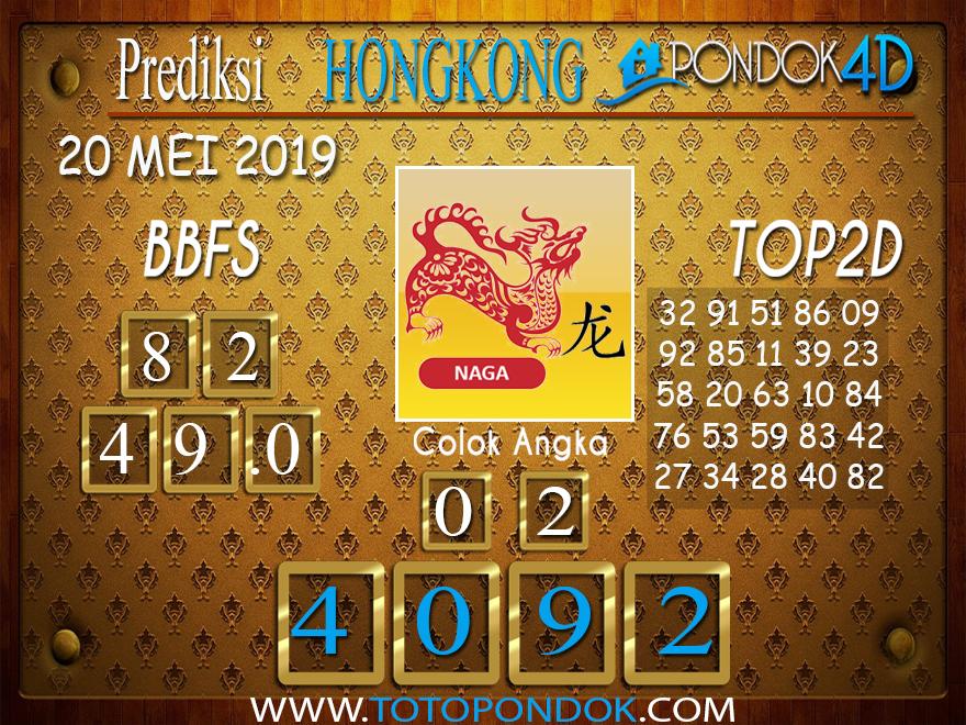Prediksi Togel HONGKONG PONDOK4D 20 MEI 2019