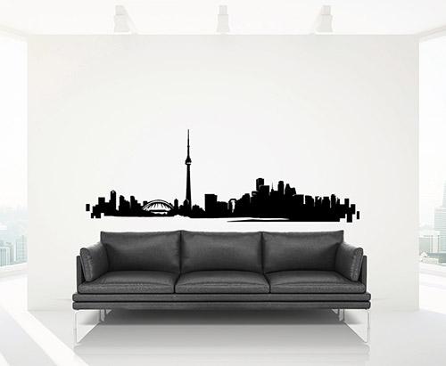 Toronto Skyline Wall Decal Removable Sticker Vinyl Decor