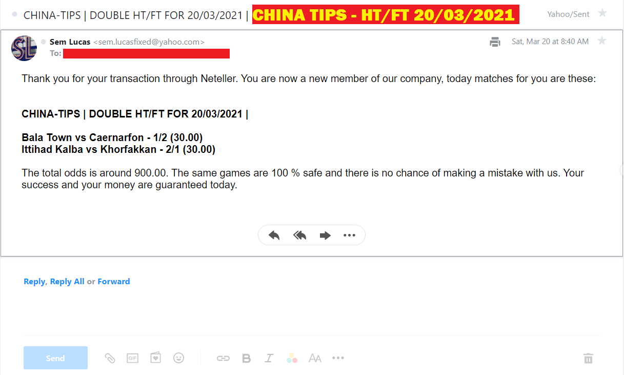 CHINA DOUBLE HT / FT FIXED MATCHES