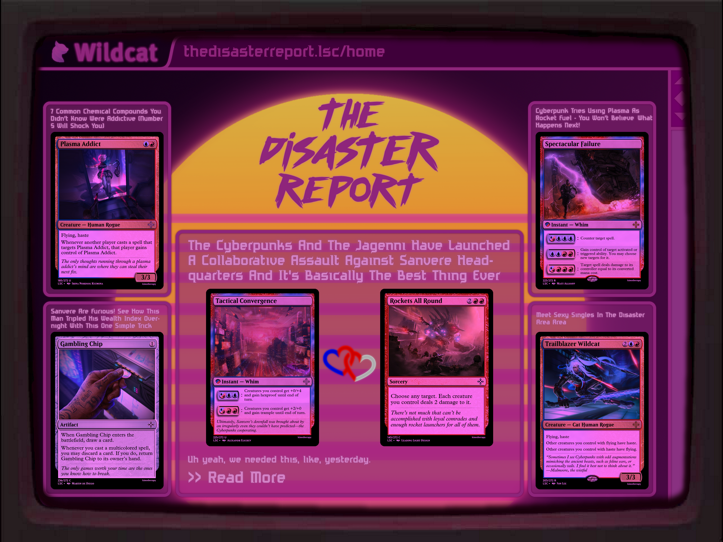 'The Disaster Report' Homepage
