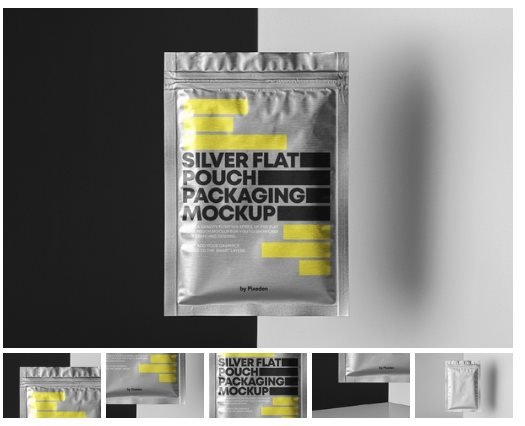 Flat Psd Pouch Packaging Mockup