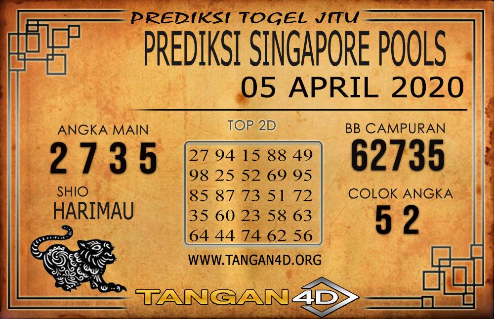 PREDIKSI TOGEL SINGAPORE TANGAN4D 05 APRIL 2020