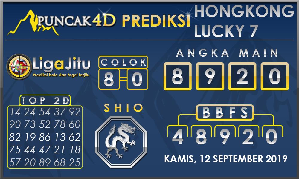 PREDIKSI TOGEL HONGKONG LUCKY7 PUNCAK4D 12 SEPTEMBER 2019