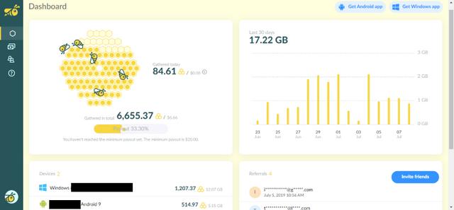Oportunidade [Testar] HoneyGain - Ganha dinheiro Paypal - Android/PC - (Actualizado em Outubro de 2019) Honee-Honee