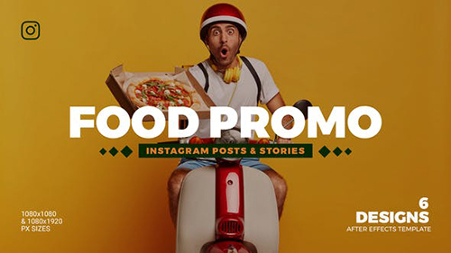 Food Promo Instagram Post & Story B86 32946850 - Project for After Effects (Videohive)