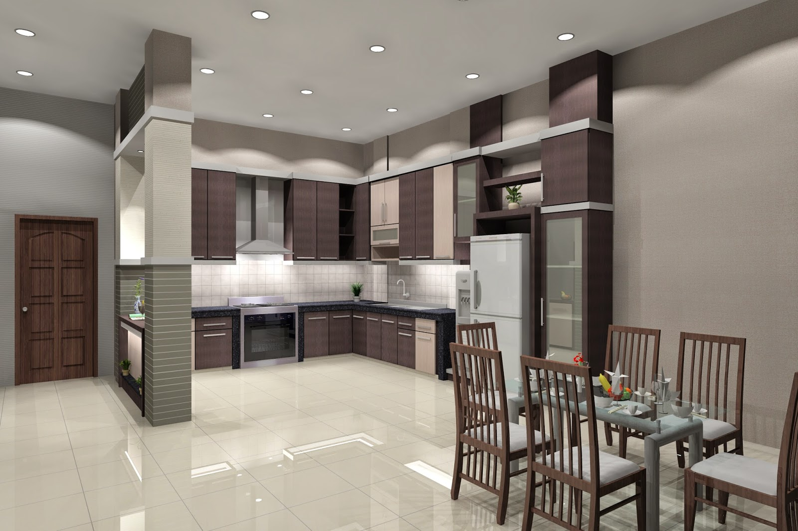 Lantai Keramik Granit di Dapur Rumah