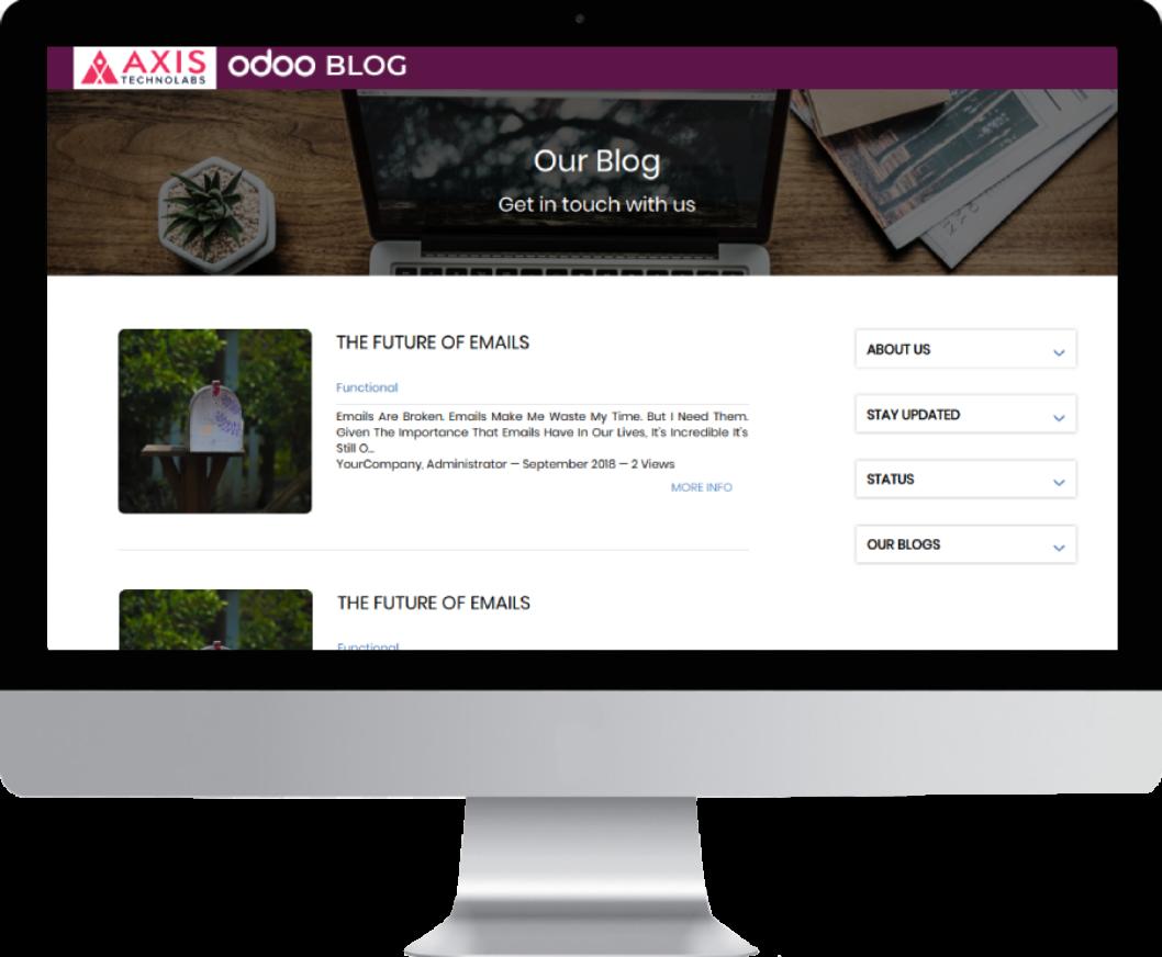 Blog Website Design, Blog Post Snippet, Blog Post Page in odoo website