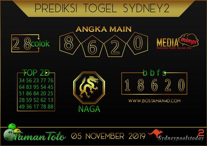 Prediksi Togel SYDNEY 2 TAMAN TOTO 05 NOVEMBER 2019
