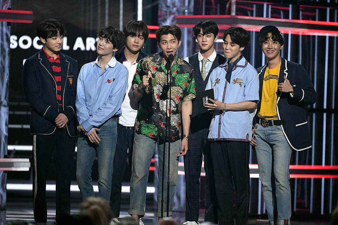 BTS in BBMA 2018