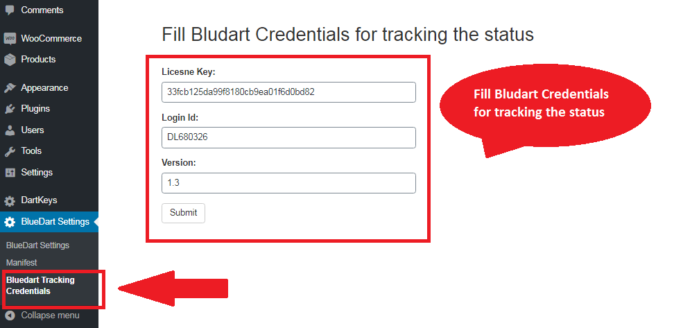 Blue Dart Shipment Tracking WooCommerce Plugin 4