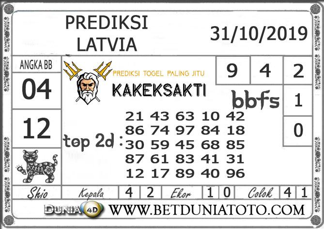 """Prediksi Togel """"LATVIA"""" DUNIA4D 31 OKTOBER 2019"""