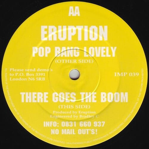 Download Eruption - Pop Bang Lovely / There Goes The Boom mp3