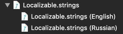 Localizable.strings files screenshot