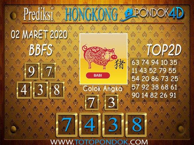 Prediksi Togel HONGKONG PONDOK4D 02 MARET 2020
