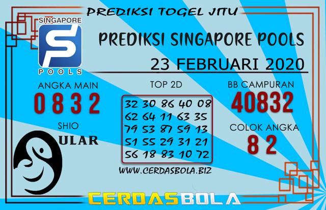 Prediksi Togel SINGAPORE CERDASBOLA 23 FEBRUARI 2020