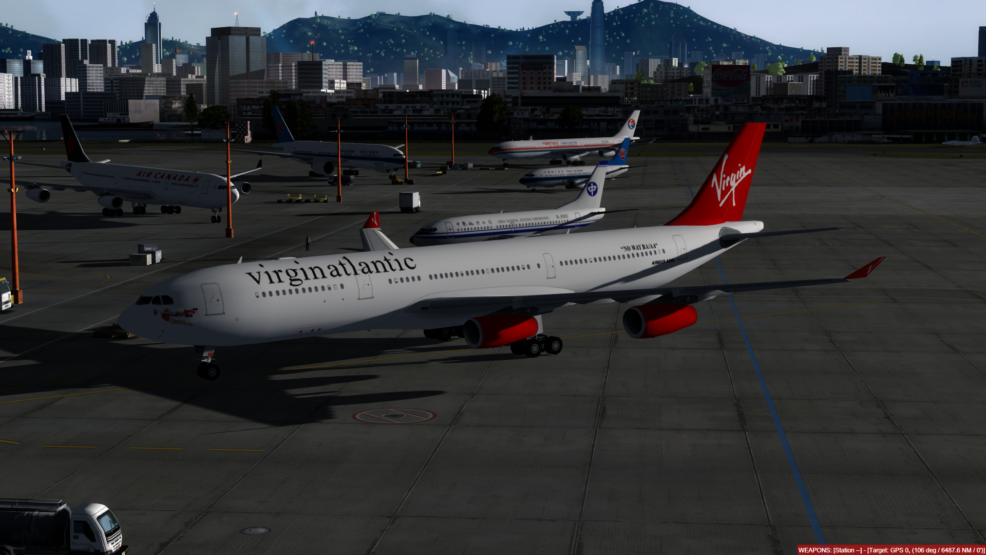 O dia a dia em Hong Kong Kai Tak - O aeroporto mais emocionante do mundo! P3D V4.4 - Só trafego AI. Captura-de-Tela-251