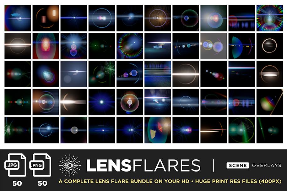 ultimate light fx bundle overlays lens flares