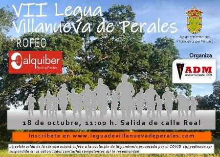 El 18 de Octubre se celebrará presencialmente la VII Carrera Popular Legua de Villanueva de Perales