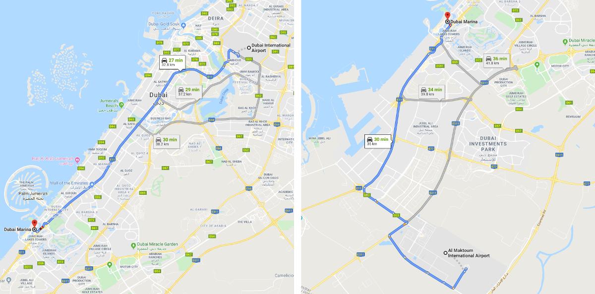 Dubai Marina Airports