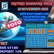 PREDIKSI TOGEL SINGAPORE PALAPATOTO 18 NOVEMBER 2019