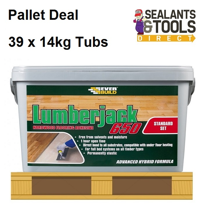 Everbuild Lumberjack 650 Wood Floor Adhesive 39 Tub Pallet
