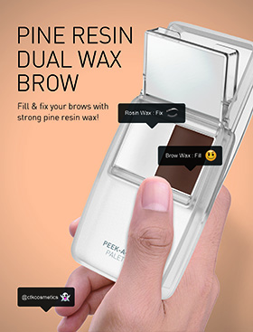 Dual eyebrow wax palette that fills and fixes for full, long-lasting eyebrows!
