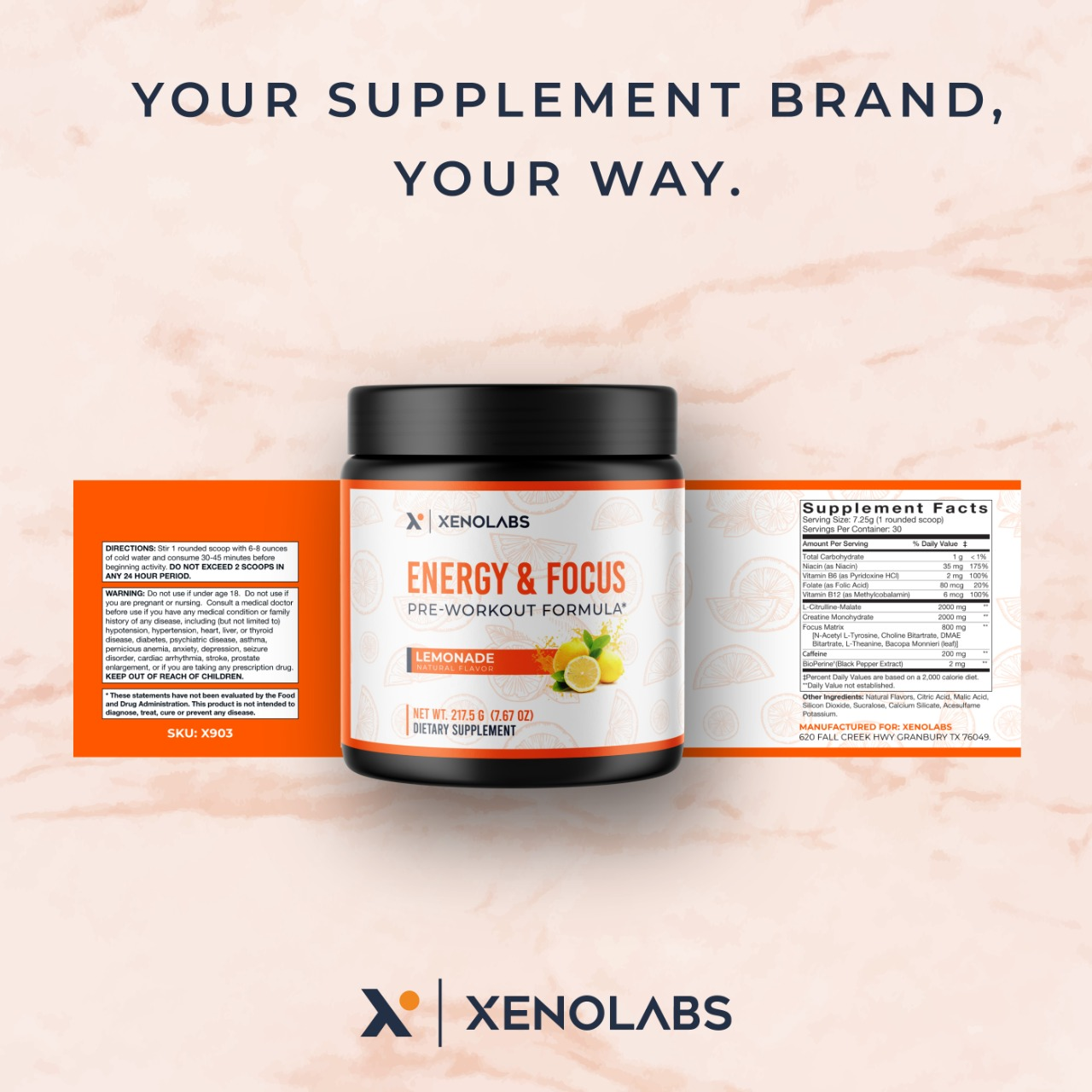 Put Your Logo on YOUR Own Health Supplements