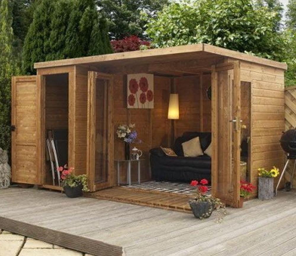 Desain Rumah kecil dengan Elemen Kayu