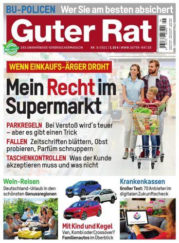 Cover: Guter Rat Verbrauchermagazin No 09 September 2021