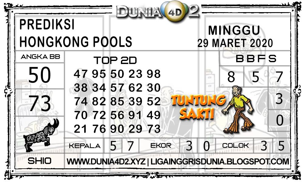 Prediksi Togel HONGKONG DUNIA4D2 29 MARET 2020