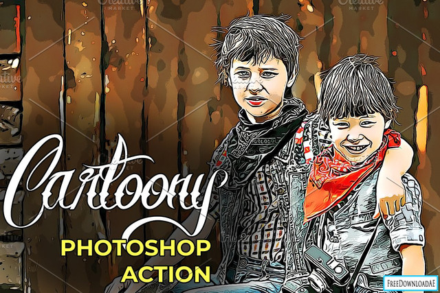 Cartoony Photoshop Action Free Download