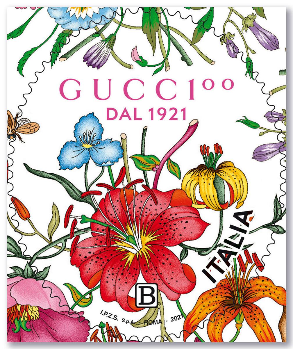 Il francobollo Gucci per i 100 anni dalla fondazione