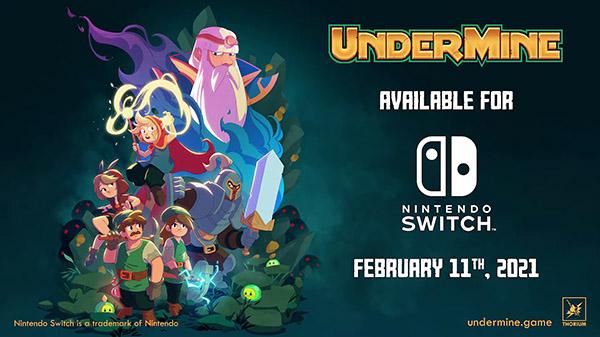 《礦坑之下(UnderMine)》 將於2月11日為SWITCH推出 Under-Mine-01-28-21