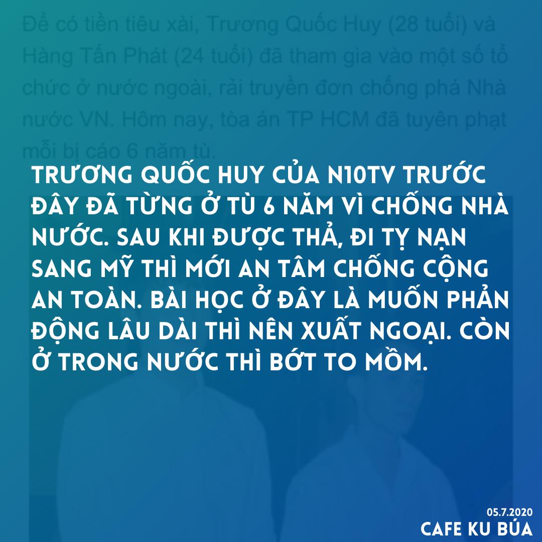 TRƯƠNG QUỐC HUY ĐÃ TỪNG Ở TÙ 6 NĂM