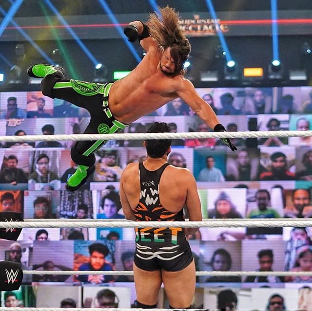 AJ Styles derrotó a Jeet Rama wwe india 2021