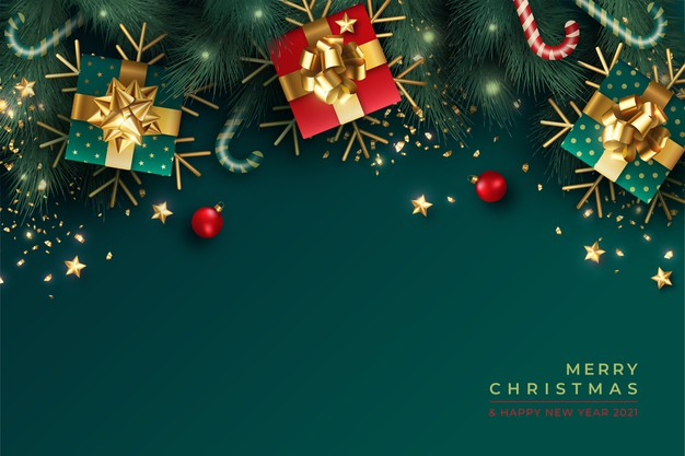 lovely-christmas-background-with-realistic-green-red-decoration-1361-3169