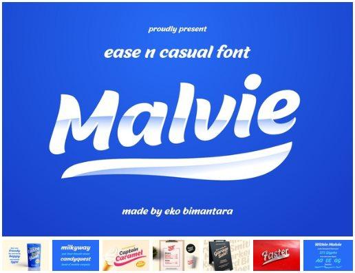 Malvie Fun and Casual Bold Script Font
