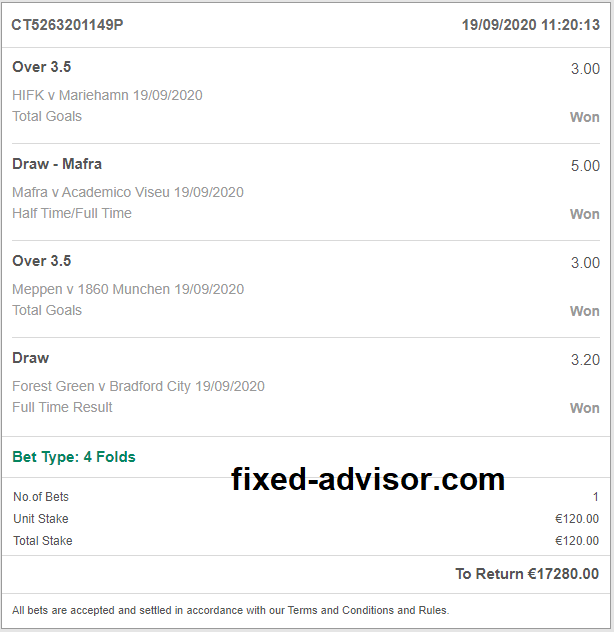 Betting Master Fixed Tips