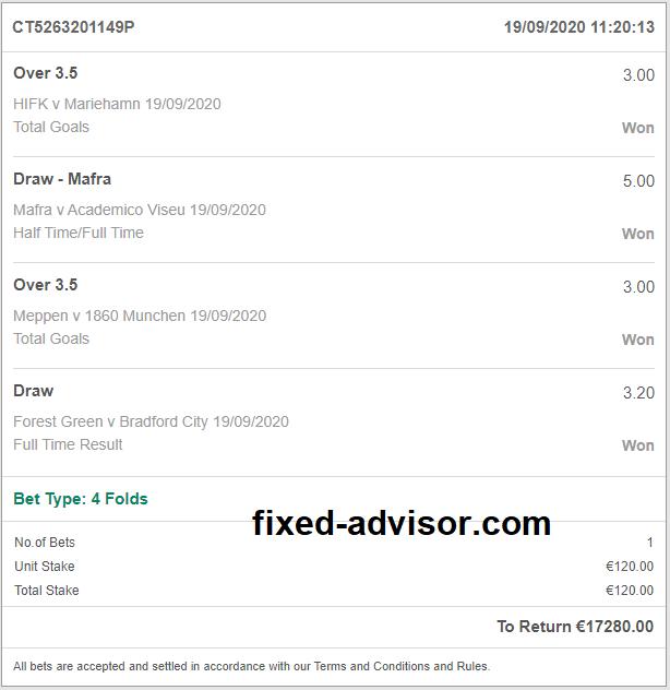 Betting Master Fixed Tips