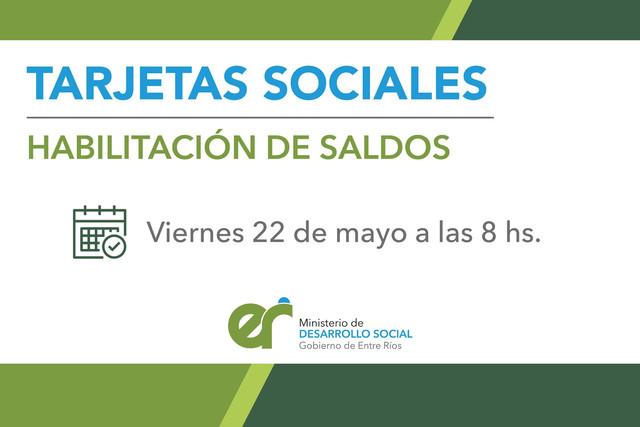 Locales: Este viernes se acreditarán las tarjetas sociales