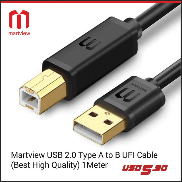 Martview USB 2.0 Type A to B UFI Cable Available in Pakistan