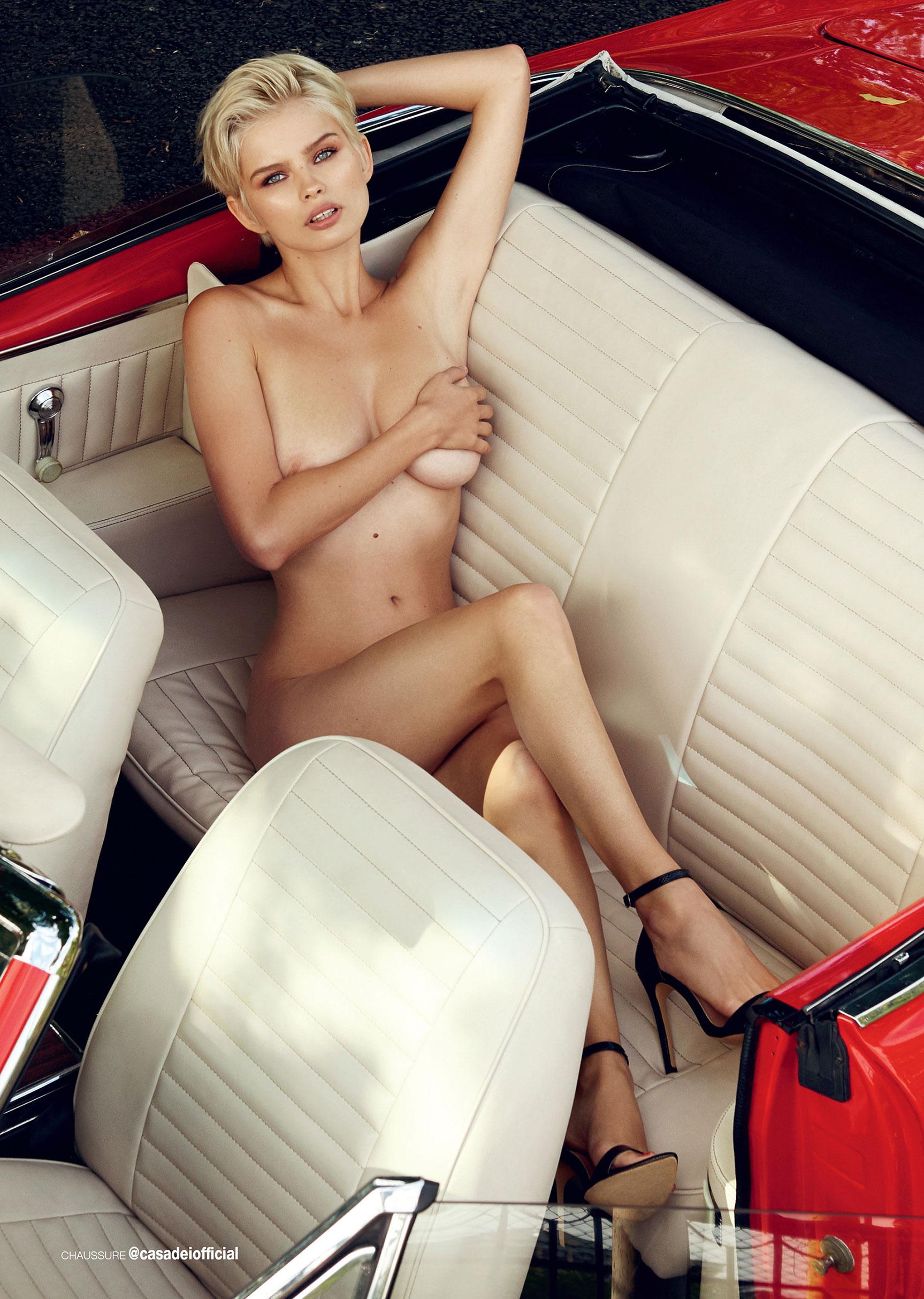 сексуальная полуголая Юлия Логачева в журнале Maxim Франция / фото 04