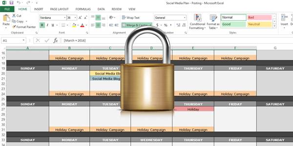 How to Protect Excel WorkSheet with Password Spreadsheet 2013