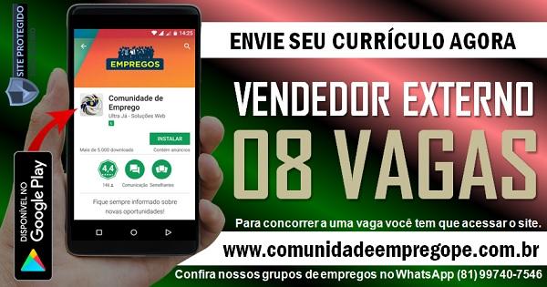 VENDEDOR EXTERNO, 08 VAGAS COM SALÁRIO R$ 1060,00 PARA INDÚSTRIA EM OLINDA